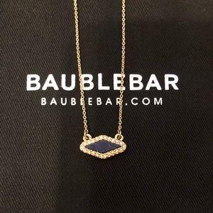 Baublebar necklace marbled blue stone
